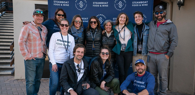 Steamboat Team posing at festival